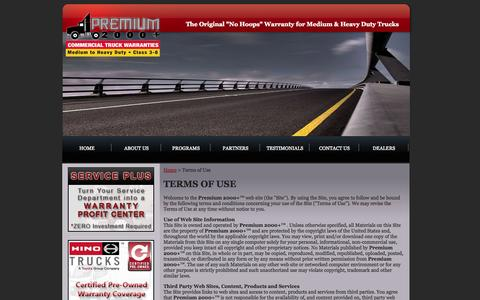 Screenshot of Terms Page premium2000.com - Premium 2000+ : Terms of Use - captured Oct. 2, 2014