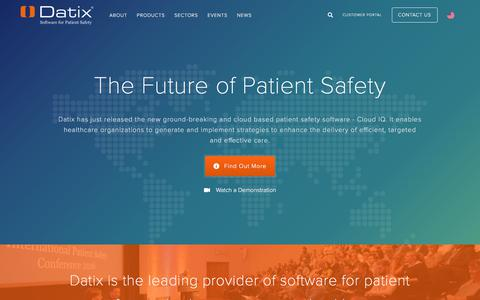 Patient Safety Software - Datix Saves Lives