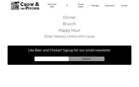 Screenshot of Menu Page crowandthepitcher.com - Crow and the Pitcher Menu | - captured Dec. 13, 2015