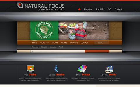 Screenshot of Home Page naturalfocus.nl - Natural Focus | Friesland | Grou | Webdesign | Grafische vormgeving - captured Sept. 30, 2014