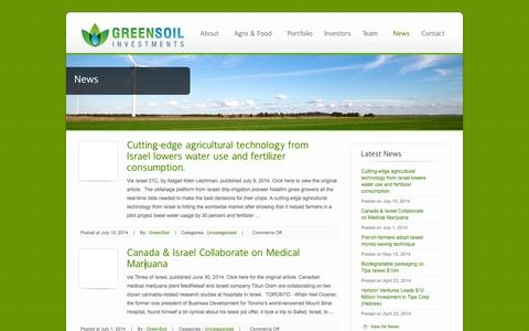 Screenshot of Press Page greensoil-investments.com - News - GreenSoil Investments - captured Sept. 30, 2014