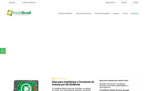 Screenshot of Home Page imobibrasil.com.br - IMOBIBRASIL - Site para Imobiliárias por R$ 39,99 - captured Sept. 22, 2018