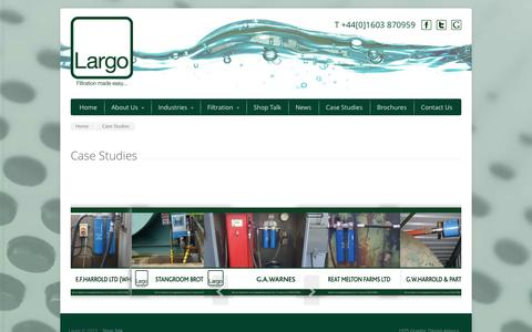 Screenshot of Case Studies Page largoplantservices.com - Case Studies | Largo Plant Services - captured Sept. 27, 2014