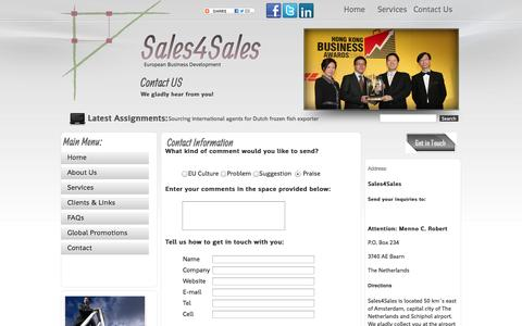 Screenshot of Contact Page Maps & Directions Page sales4sales.com - Contact Us - captured Sept. 30, 2014
