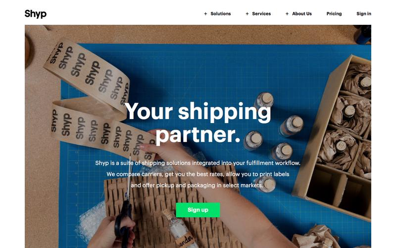 Screenshot Shipping Made Easy - Compare Shipping Prices | Shyp