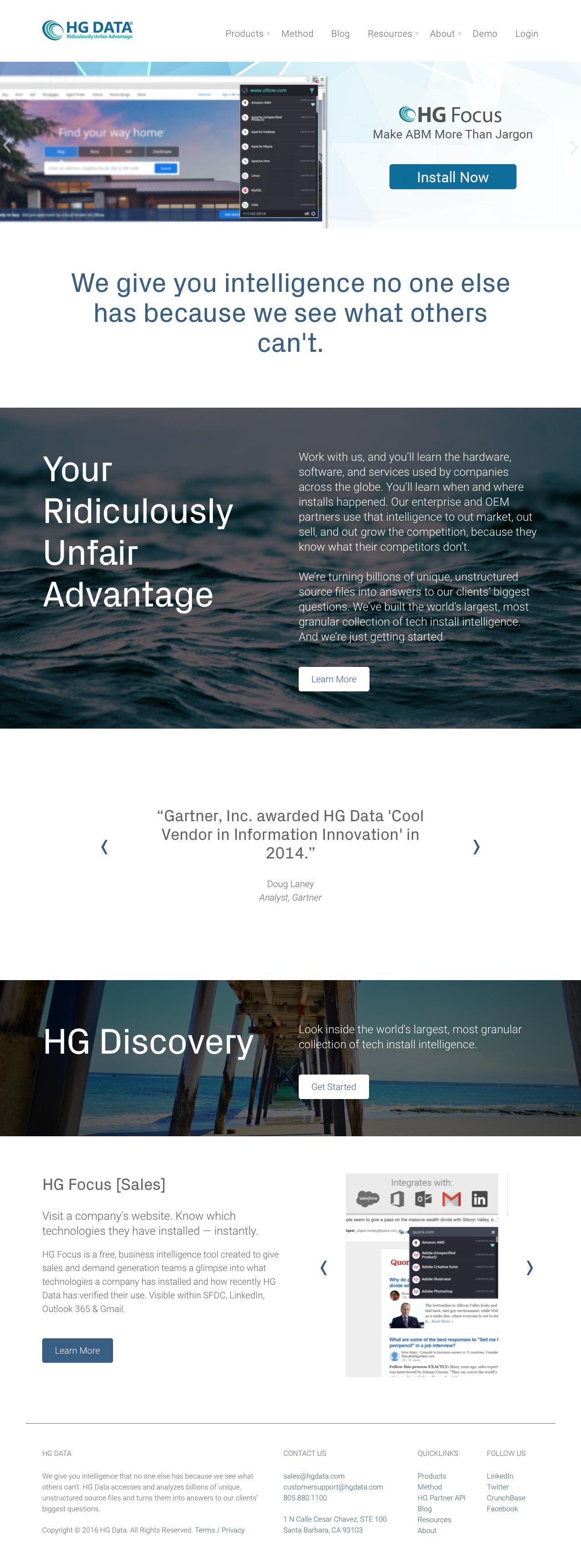 Screenshot of hgdata.com - HG Data - captured July 23, 2016