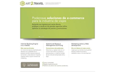 Screenshot of Home Page art2fly.com - e-commerce solutions for hotels and cruises - captured Sept. 30, 2014