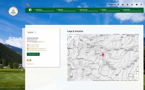Screenshot of Maps & Directions Page golfclub-montafon.at - Map · Golfclub Montafon - captured June 8, 2016
