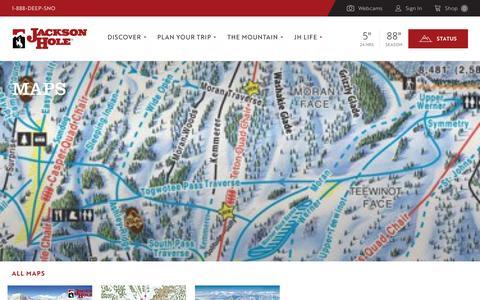 Screenshot of Maps & Directions Page jacksonhole.com captured Nov. 28, 2018