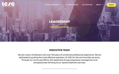 Screenshot of Team Page lesc.org - Leadership - captured Sept. 16, 2017