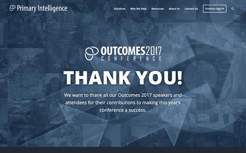 Outcomes Conference - Primary Intelligence