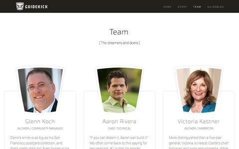 Screenshot of Team Page guidekick.co - Team — Guidekick - captured Dec. 17, 2014