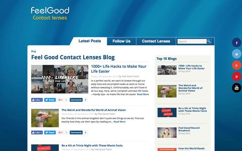 Screenshot of Blog feelgoodcontacts.com - Contact Lenses UK - Feel Good Contact Lenses - captured Oct. 8, 2016