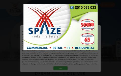 Screenshot of Home Page spaze.in - Spaze Group Builder | Top Real Estate Developer in Gurgaon - captured Oct. 19, 2018