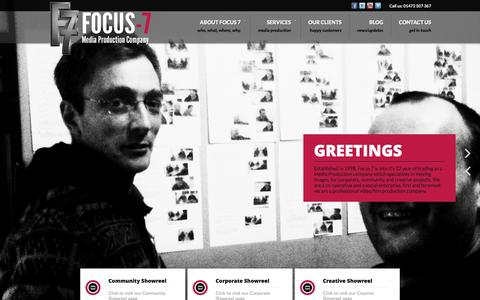 Screenshot of Home Page focus-7.com - Focus – 7 - captured Oct. 6, 2014