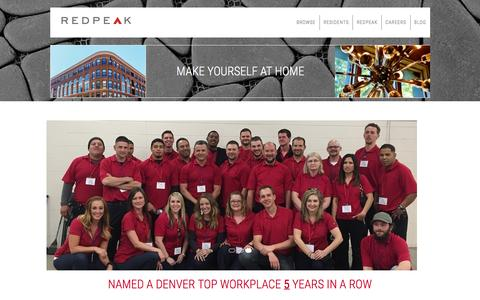 Screenshot of Team Page redpeak.com - Leadership | RedPeak Apartments in Denver - captured Dec. 13, 2016