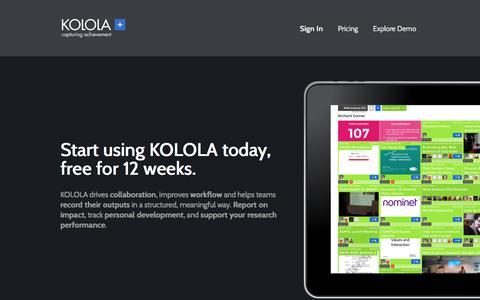 Screenshot of Trial Page kolola.net captured Sept. 20, 2018