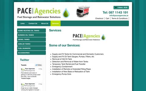 Screenshot of Services Page paceagencies.ie - Services - Pace Agencies - captured Sept. 26, 2014