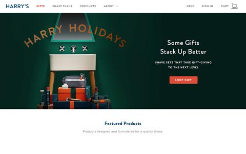 Screenshot of Home Page harrys.com - Harry's - Quality MenŐs Shaving Products. Fair Prices. Simple. - captured Dec. 26, 2015