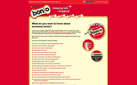 Screenshot of FAQ Page purina.co.uk - FAQs   Dog Treats   Bonio - captured Oct. 26, 2018