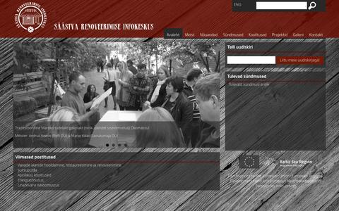 Screenshot of Home Page renoveeri.net - SRIK | Säästva Renoveerimise Infokeskus - captured Oct. 19, 2015