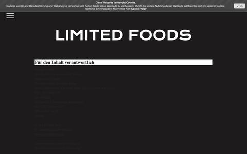 Screenshot of About Page limitedfoods.com - Impressum - 1533123198s Webseite! - captured Nov. 4, 2018