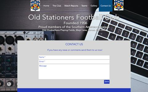 Screenshot of Contact Page oldstationersfc.co.uk - Contact Us - captured Oct. 30, 2018