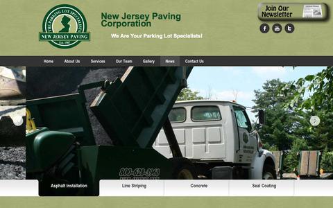 Screenshot of Press Page njpaving.biz - News - New Jersey Paving - captured Oct. 26, 2014