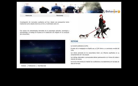 Screenshot of Home Page behavior-lab.es - Behavior lab - captured Sept. 30, 2014