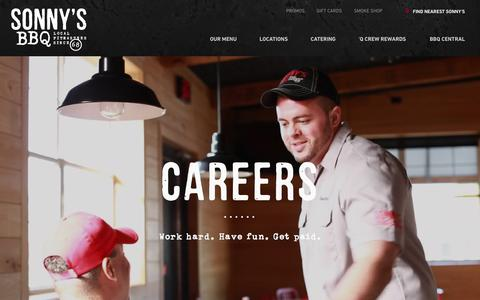 Screenshot of Jobs Page sonnysbbq.com - Hourly Jobs | Careers | Sonny's BBQ - captured July 5, 2017