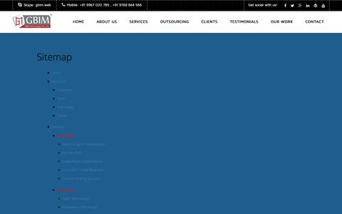 Screenshot of Site Map Page gbim.com - Sitemap | GBIMŞ - captured Jan. 17, 2016