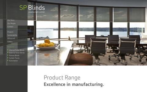 Screenshot of Products Page spblinds.co.nz - Products   SP Blinds - captured Dec. 19, 2015