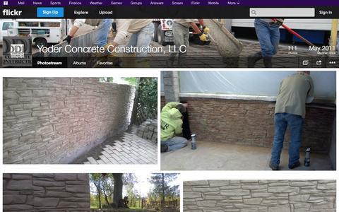 Screenshot of Flickr Page flickr.com - Flickr: Yoder Concrete Construction, LLC's Photostream - captured Oct. 26, 2014