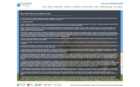 Screenshot of Terms Page bluefieldsgroup.com captured Sept. 30, 2014
