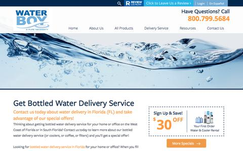 Screenshot of Signup Page waterboyinc.com - About Water Boy Inc - Florida's Favorite Bottled Water Delivery Company! - captured Oct. 19, 2017