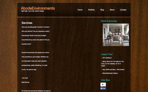 Screenshot of Services Page abodeenvironments.com - Services  |  Abode Environments - captured Sept. 30, 2014