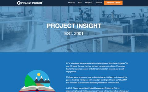 Screenshot of About Page projectinsight.net - Project Management Business | About Project Insight - captured March 23, 2018