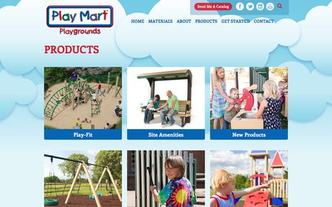 Screenshot of Products Page playmart.com - Products | Play Mart Playgrounds - captured July 19, 2018