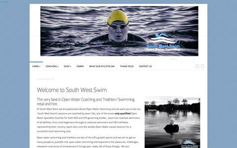 Screenshot of Home Page southwestswim.co.uk - SouthWestSwim | Open Water Coaching & Swim Retail - captured Oct. 7, 2014
