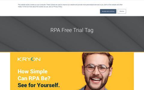 Screenshot of Trial Page kryonsystems.com - RPA Free Trial Archives | Kryon - captured Feb. 5, 2019