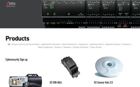 Screenshot of Products Page deltacontrols.com - Products - Delta Controls - captured Sept. 21, 2019