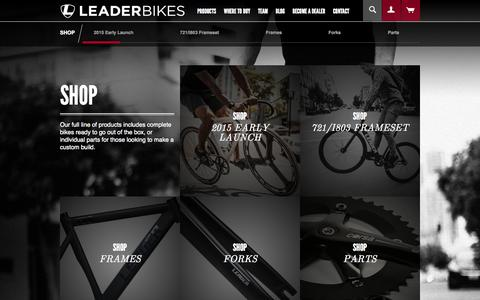 Screenshot of Products Page leaderbikes.com - Shop | Leader Bike LLC - captured Oct. 2, 2014