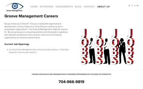 Screenshot of Jobs Page groovemanagement.com - CAREERS — Groove Management - captured Feb. 15, 2019