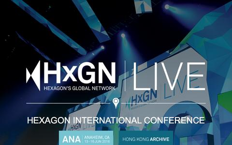 Screenshot of Home Page hxgnlive.com - HEXAGON INTERNATIONAL CONFERENCE | HxGN LIVE - captured March 6, 2016