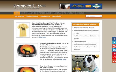 Screenshot of Home Page dog-gonnit.com - At dog-gonnit.com, Rescued is our favorite breed. - captured Sept. 26, 2015