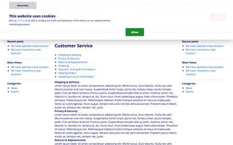 Screenshot of Support Page roindustry.com - Customer Service - captured Nov. 18, 2018