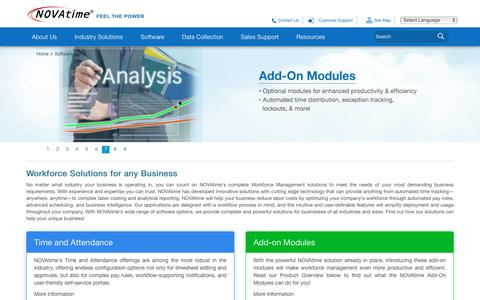 Screenshot of Products Page novatime.com - Automated Workforce Management System Solutions - captured Aug. 29, 2016