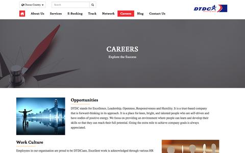 Screenshot of Jobs Page dtdc.com - Careers | DTDC Global - captured Sept. 21, 2018
