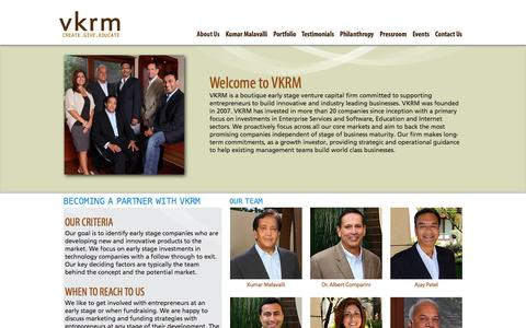 Screenshot of About Page vkrm.com - About Us | VKRM - captured Oct. 7, 2014