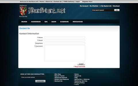 Screenshot of Contact Page gostorego.com - Contact Us - captured Oct. 10, 2014